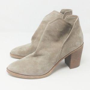 Dolce Vita Tan Suede Block Heel Booties 12